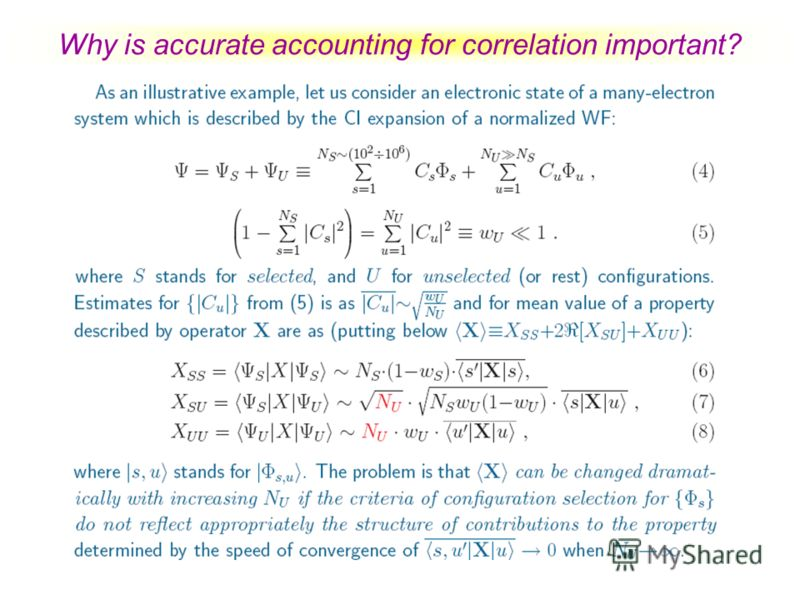 Why is accurate accounting for correlation important?