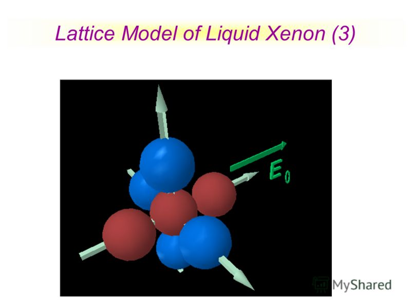 Lattice Model of Liquid Xenon (3)