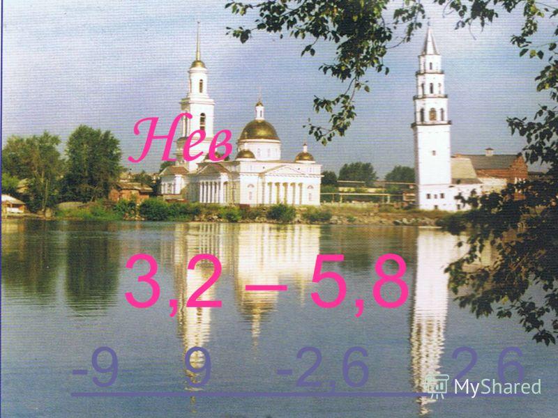 Нев 3,2 – 5,8 -9 9 -2,6 2,6-9 9 -2,6 2,6