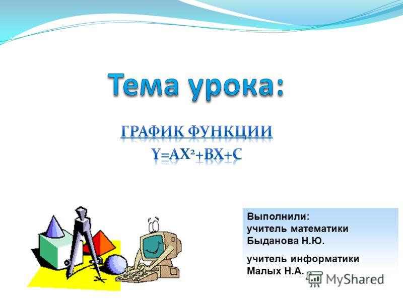 Выполнили: учитель математики Быданова Н.Ю. учитель информатики Малых Н.А.