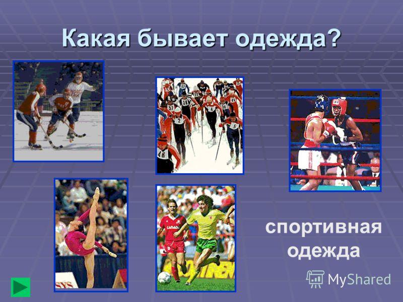 Какая бывает одежда? спортивная одежда