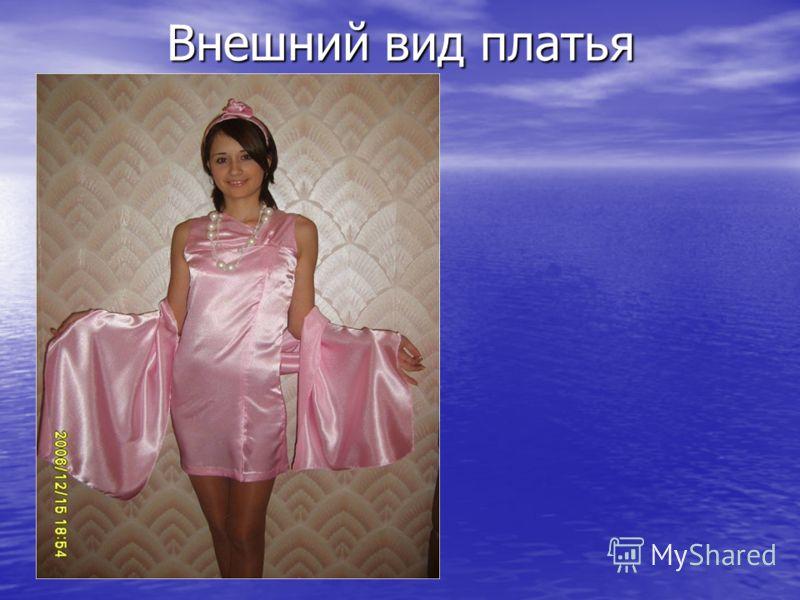 Внешний вид платья