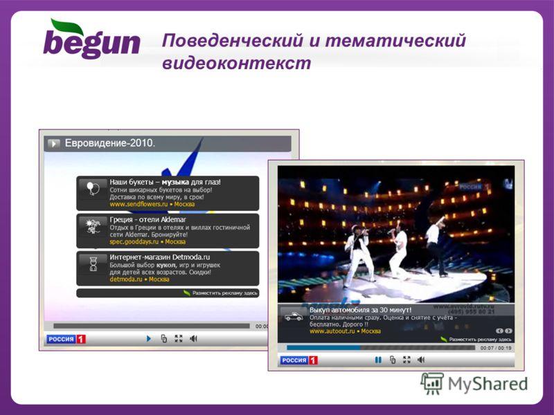 Поведенческий и тематический видеоконтекст