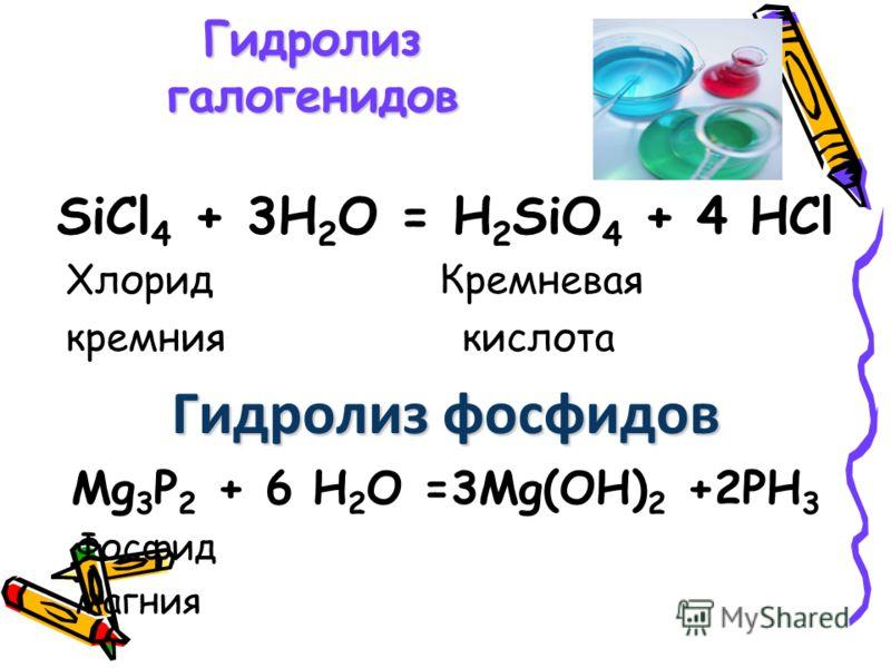 Гидролиз карбидов CaC 2 +2H 2 O = Ca(OH) 2 +C 2 H 2 Карбид кальция ацетилен Al 4 C 3 +12 H 2 O =4 Al(OH) 3 +3 CH 4 Карбид алюминия метан