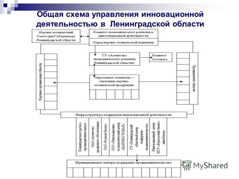 Общая схема управления инновационной деятельностью в Ленинградской области
