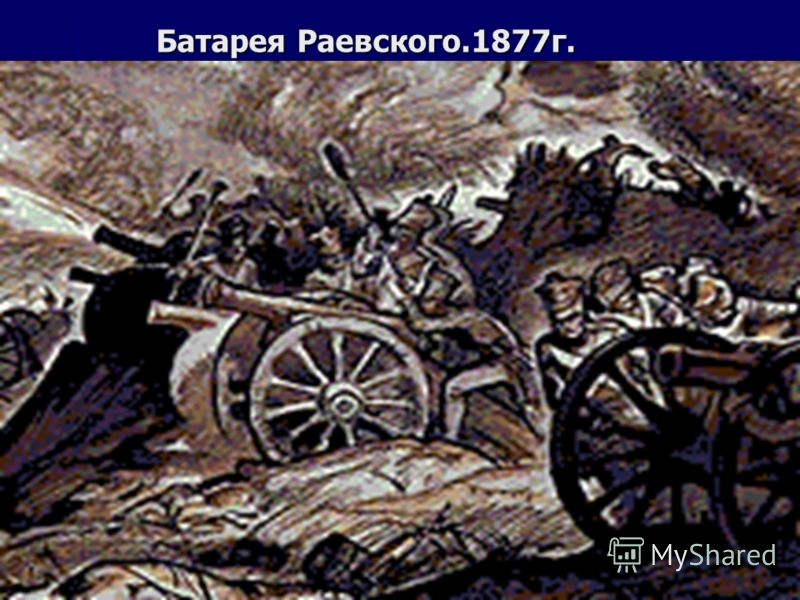 Батарея Раевского.1877г.