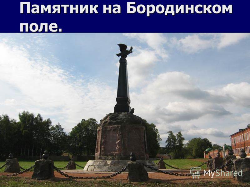 Памятник на Бородинском поле.
