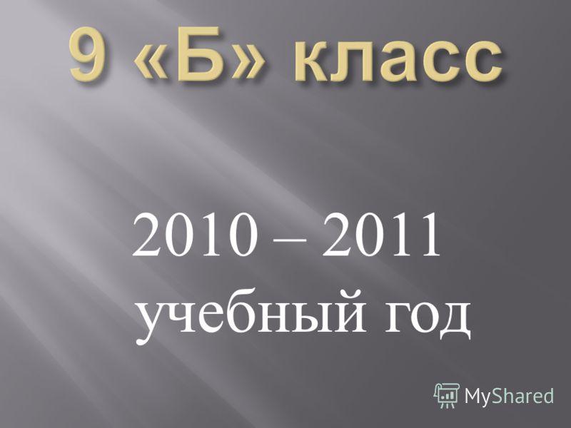 2010 – 2011 учебный год