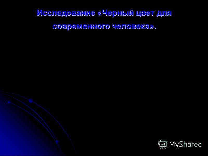 Исследование «Черный цвет для современного человека».
