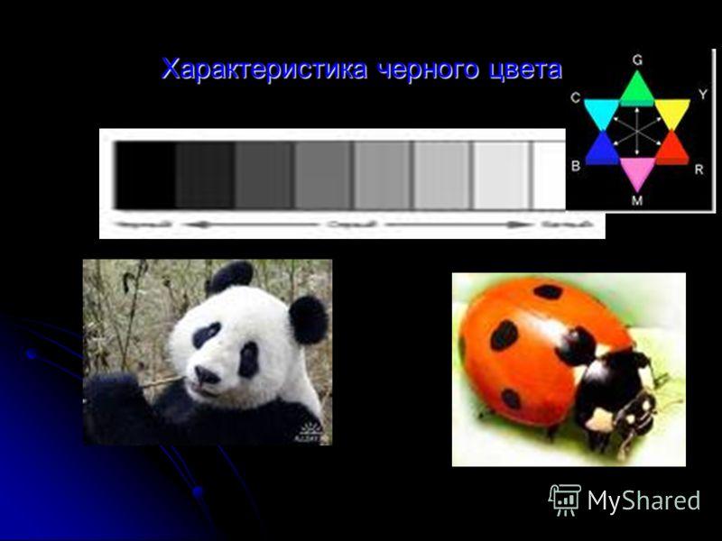 Характеристика черного цвета