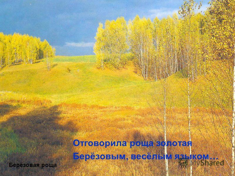 Отговорила роща золотая Берёзовым, весёлым языком… Берёзовая роща