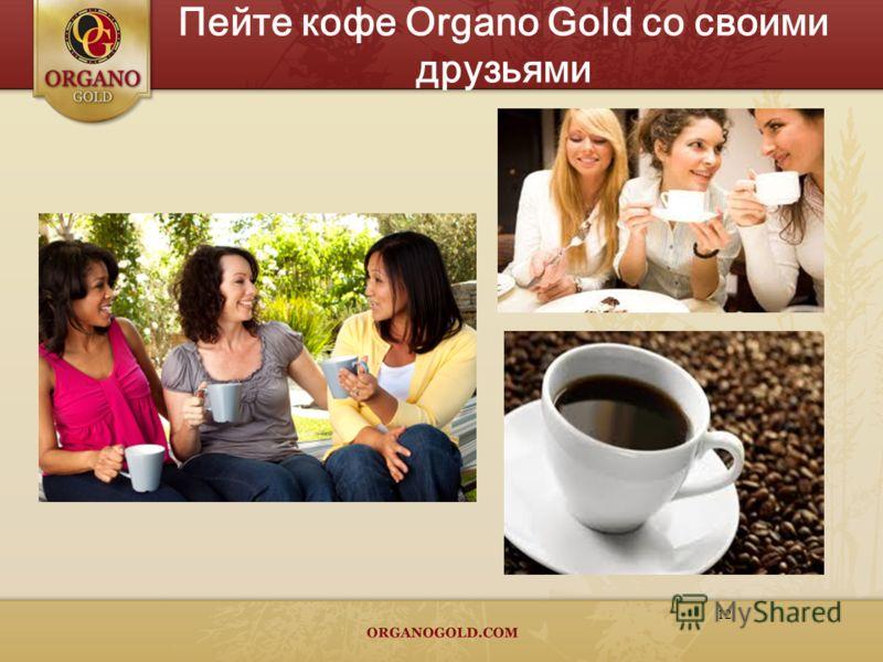 12 Пейте кофе Organo Gold со своими друзьями