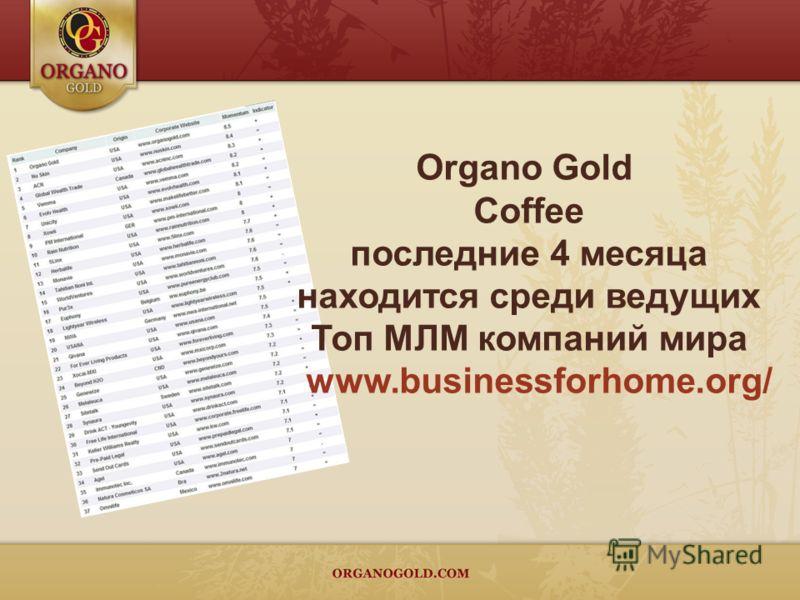 Organo Gold Coffee последние 4 месяца находится среди ведущих Топ МЛМ компаний мира www.businessforhome.org/