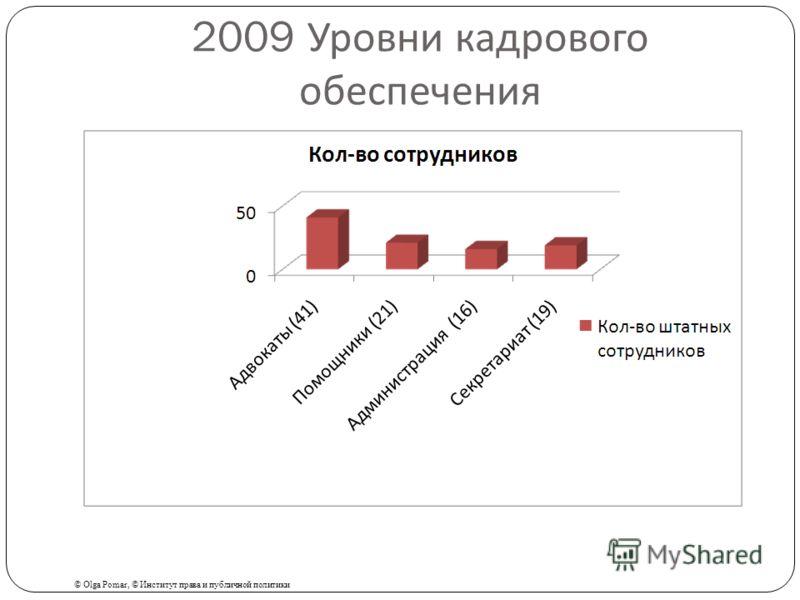2009 Уровни кадрового обеспечения © Olga Pomar, © Институт права и публичной политики