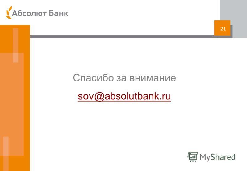 21 Спасибо за внимание sov@absolutbank.ru