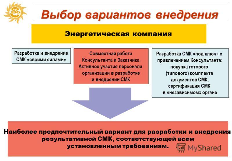 Определение формата внедрения Проект - уникальный процесс, состоящий из совокупности скоординированных и управляемых видов деятельности, имеющий начальную и конечную дату выполнения, предпринимаемый для достижения цели, соответствующей установленным