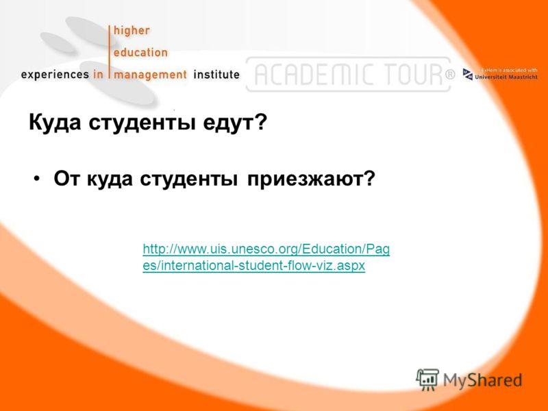 Куда студенты едут? От куда студенты приезжают? http://www.uis.unesco.org/Education/Pag es/international-student-flow-viz.aspx
