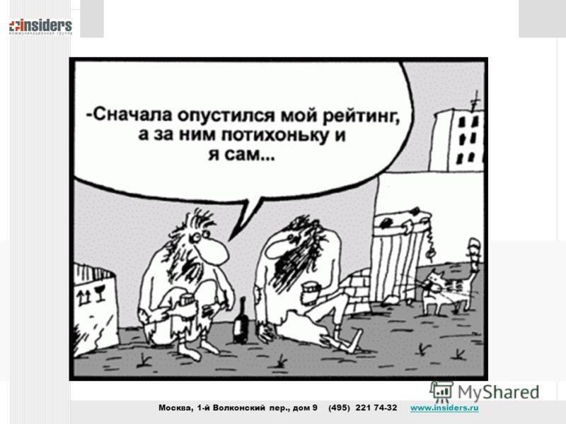 Москва, 1-й Волконский пер., дом 9 (495) 221 74-32 www.insiders.ruwww.insiders.ru