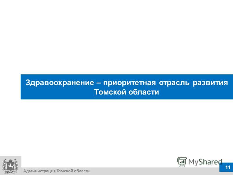 Здравоохранение – приоритетная отрасль развития Томской области Администрация Томской области 11
