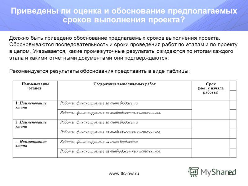 www.ttc-nw.ru19 Представлены ли расчет и значения программных индикаторов и показателей? С целью осуществления контроля за ходом выполнения мероприятий Программы устанавливаются целевые индикаторы и показатели реализации мероприятий Программы. Индика