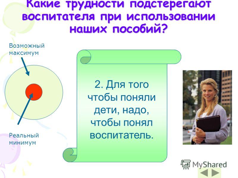 3. Поэтому необходимо обладать знаниями, позволяющими отвечать на вопросы детей. 1. Занятие с использованием минимакса требует особой подготовки и индивидуальной работы с детьми. 2. Для того чтобы поняли дети, надо, чтобы понял воспитатель. Какие тру