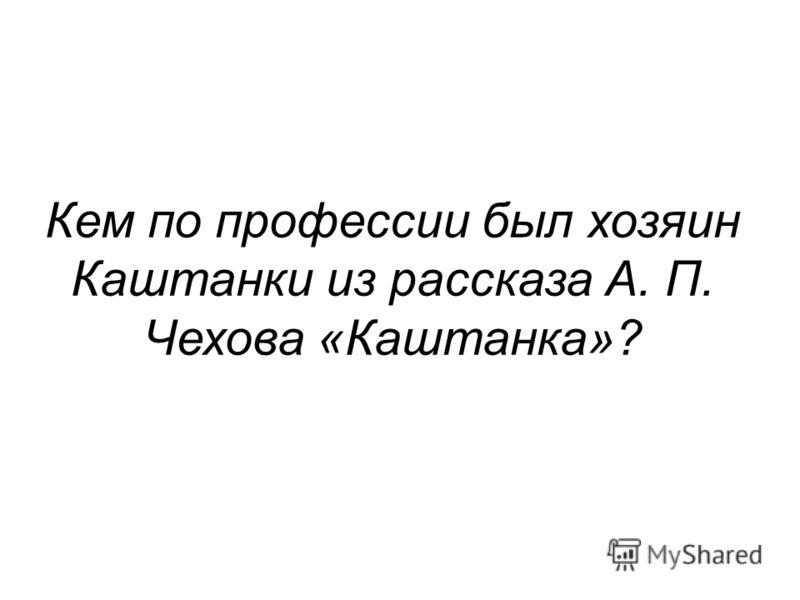 Кем по профессии был хозяин Каштанки из рассказа А. П. Чехова «Каштанка»?