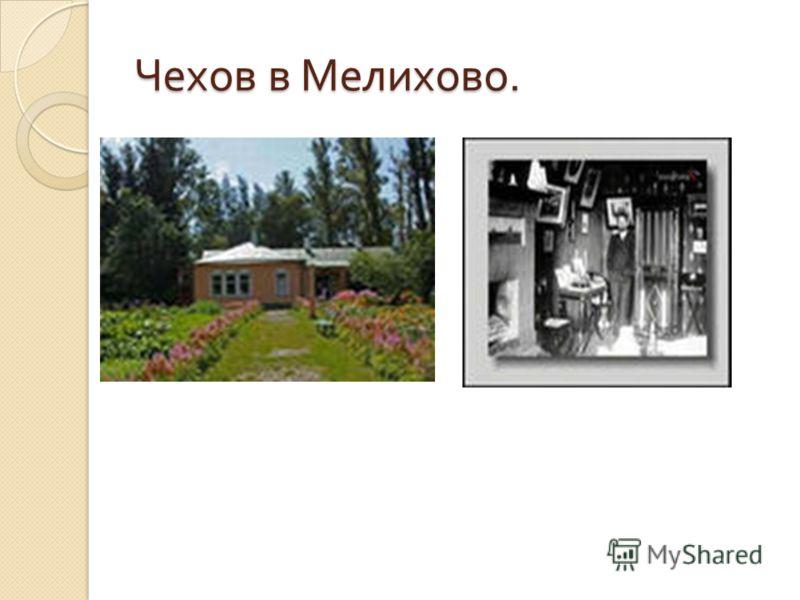 Чехов в Мелихово.