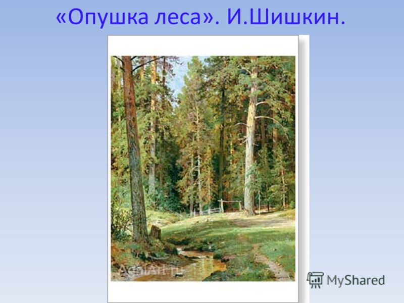 «Опушка леса». И.Шишкин.