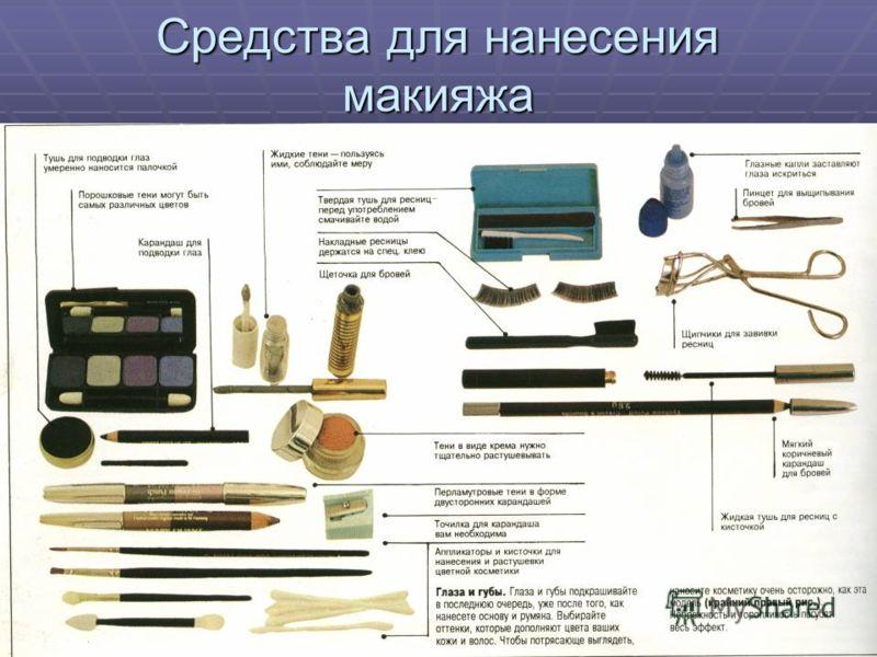 Cредства для нанесения макияжа