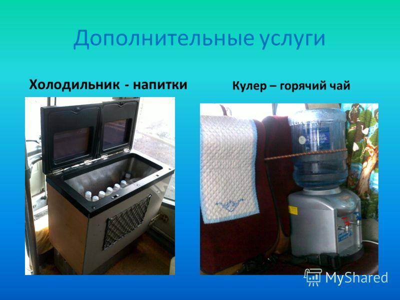Дополнительные услуги Холодильник - напитки Кулер – горячий чай