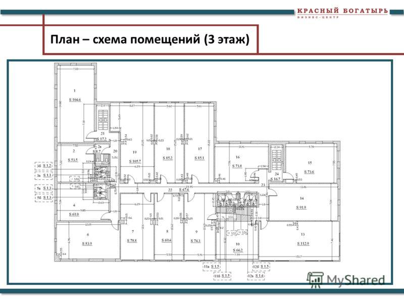 План – схема помещений (3 этаж)