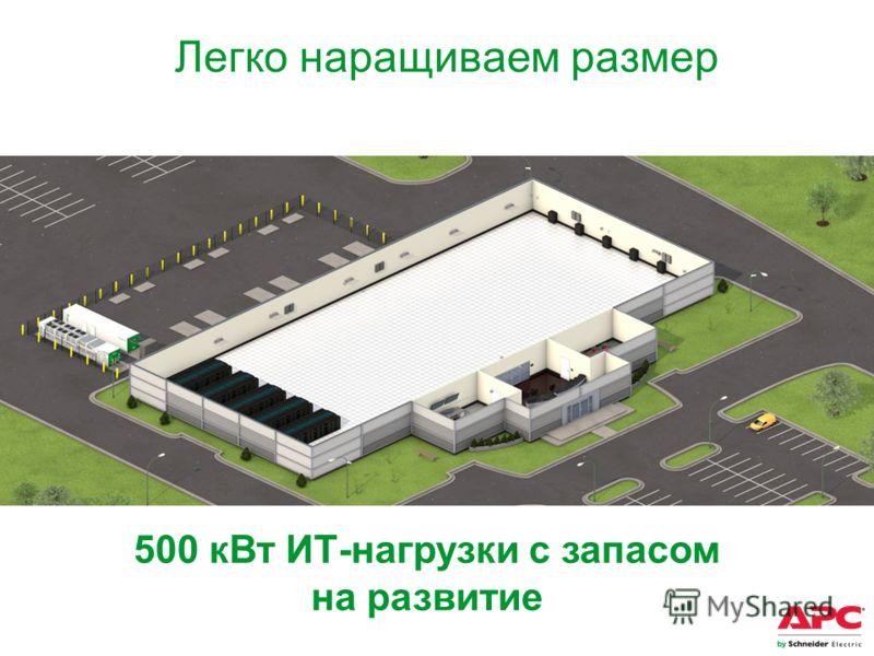 500 кВт ИТ-нагрузки с запасом на развитие Легко наращиваем размер