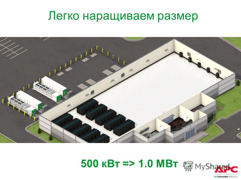 500 кВт => 1.0 MВт Легко наращиваем размер