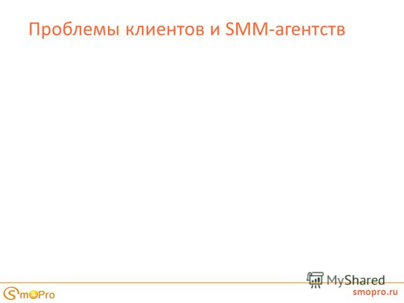 Проблемы клиентов и SMM-агентств smopro.ru