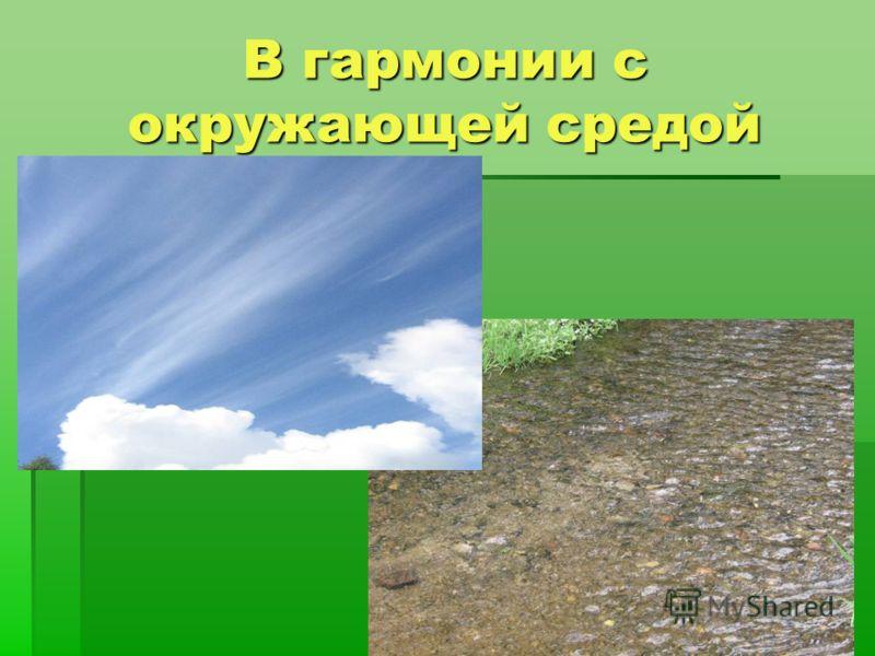 В гармонии с окружающей средой