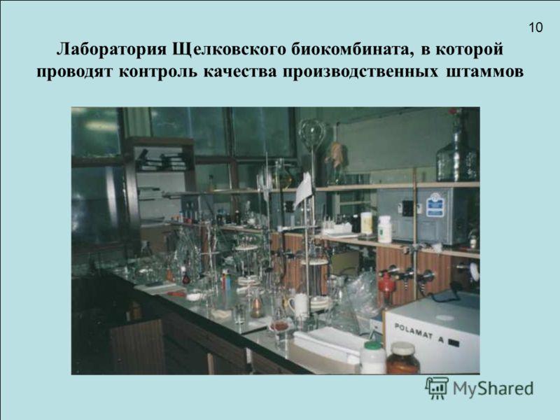 Лаборатория щелковского биокомбината
