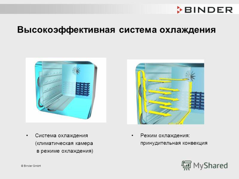 © Binder GmbH Высокоэффективная система охлаждения Система охлаждения (климатическая камера в режиме охлаждения) Режим охлаждения: принудительная конвекция