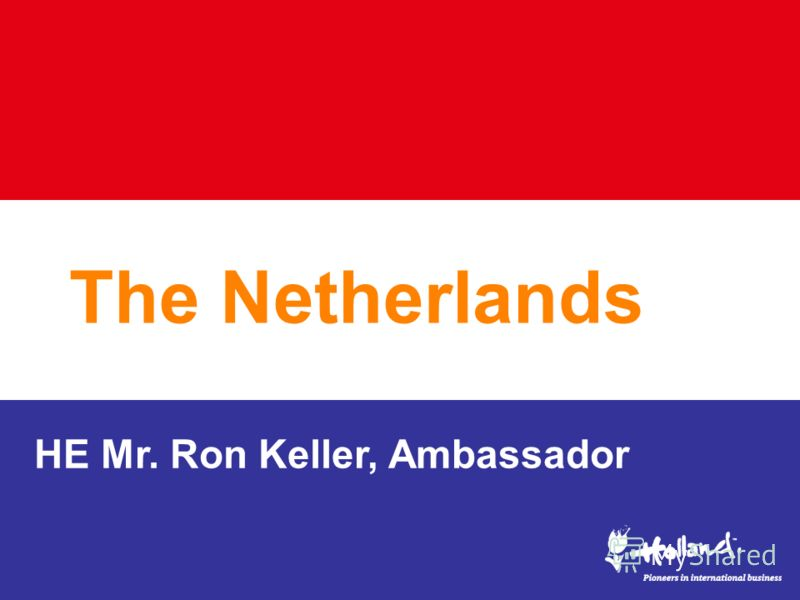 The Netherlands HE Mr. Ron Keller, Ambassador