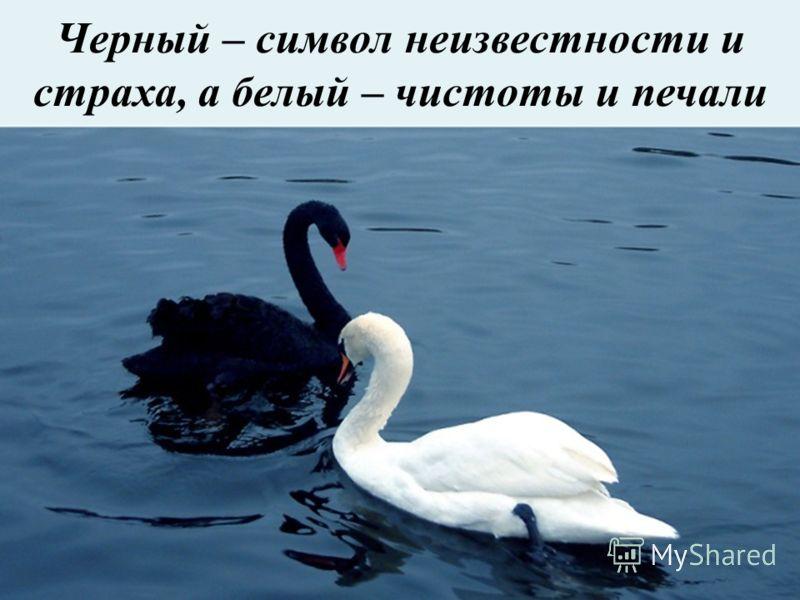 Черный – символ неизвестности и страха, а белый – чистоты и печали