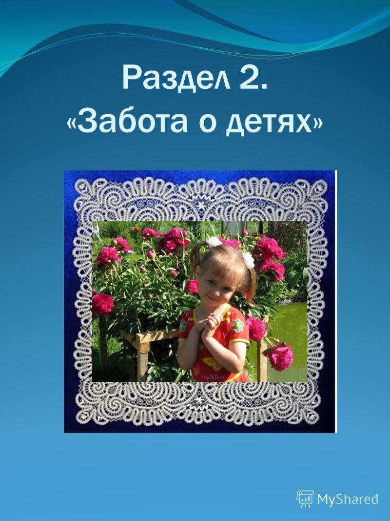 Раздел 2. «Забота о детях»