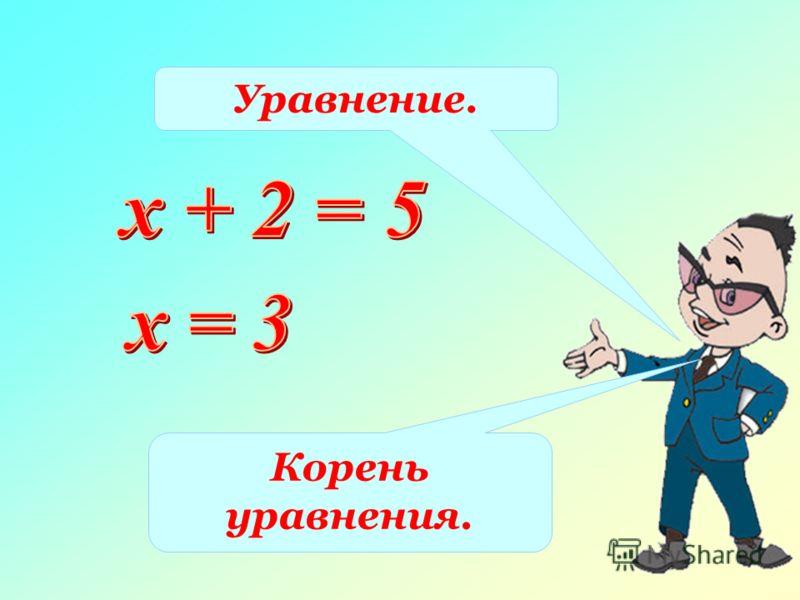 Уравнение. Корень уравнения.