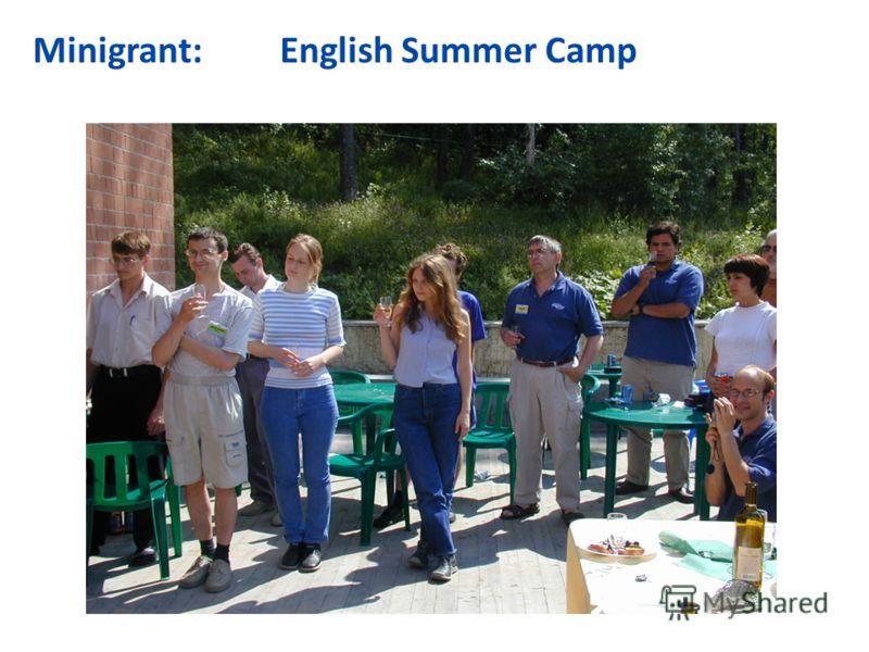 Minigrant: English Summer Camp Text по английскому лагерю Ываываф Ыфваыв