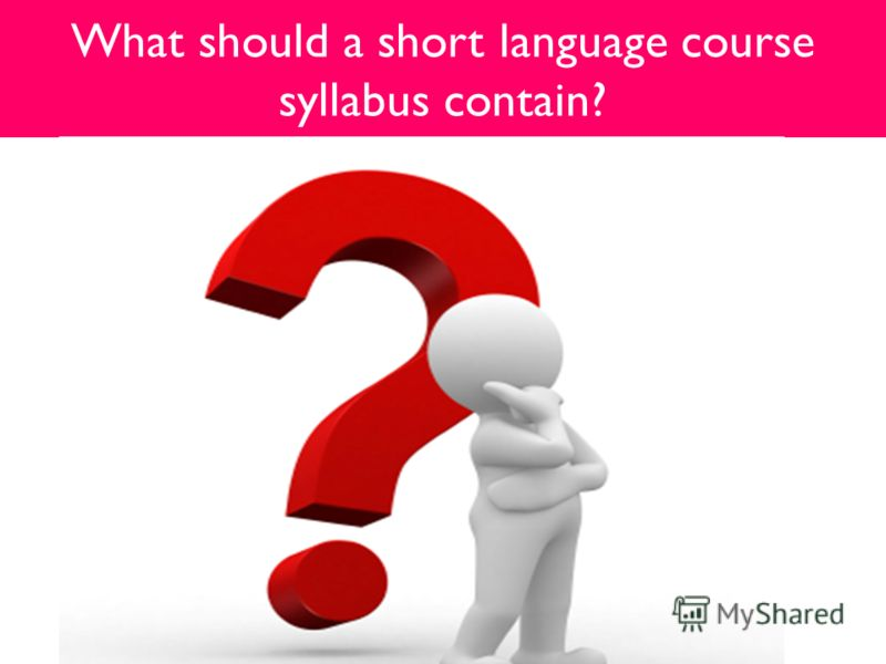What should a short language course syllabus contain?