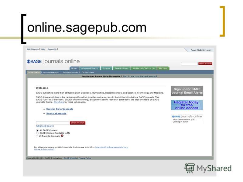online.sagepub.com