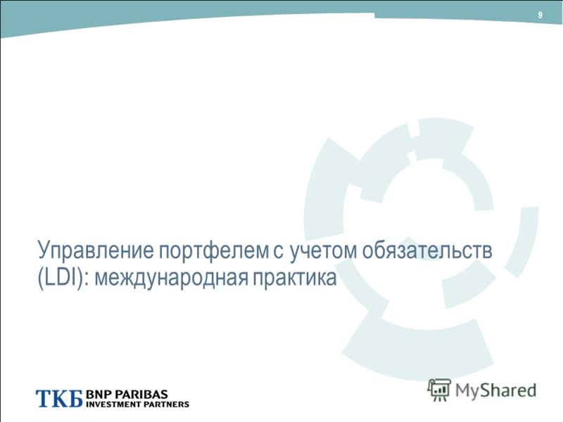 Управление портфелем с учетом обязательств (LDI): международная практика 9