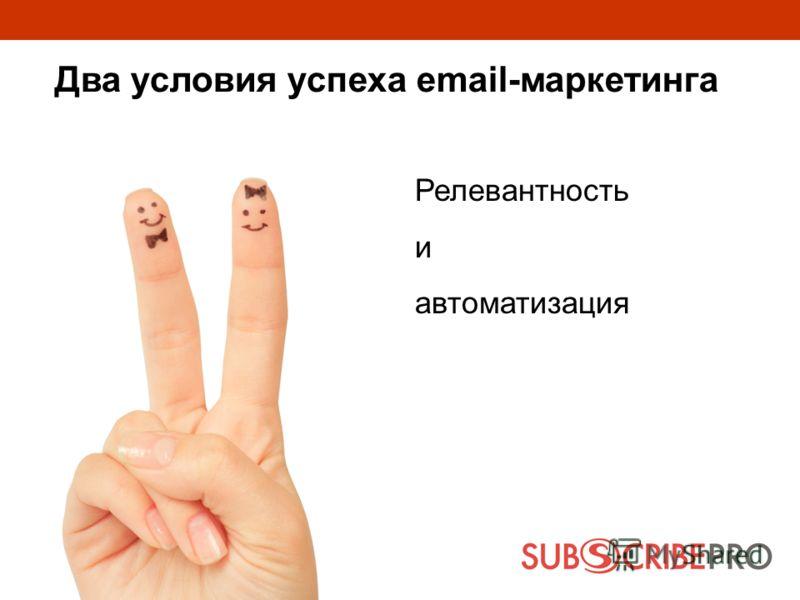 Релевантность и автоматизация Два условия успеха email-маркетинга