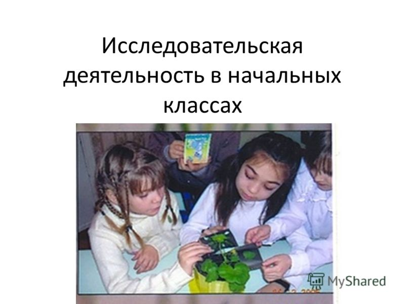 Исследовательская деятельность в начальных классах