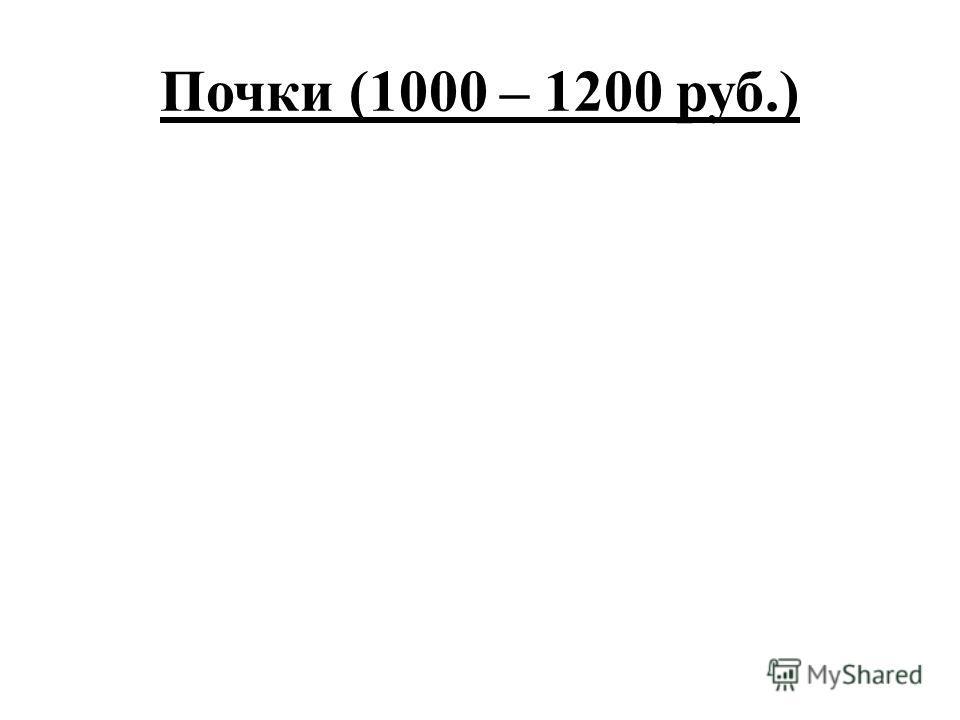 Почки (1000 – 1200 руб.)