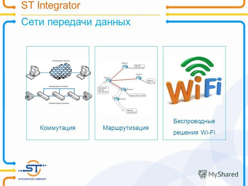 ST Integrator __________________________________________________________________________ Сети передачи данных Беспроводные решения Wi-Fi МаршрутизацияКоммутация