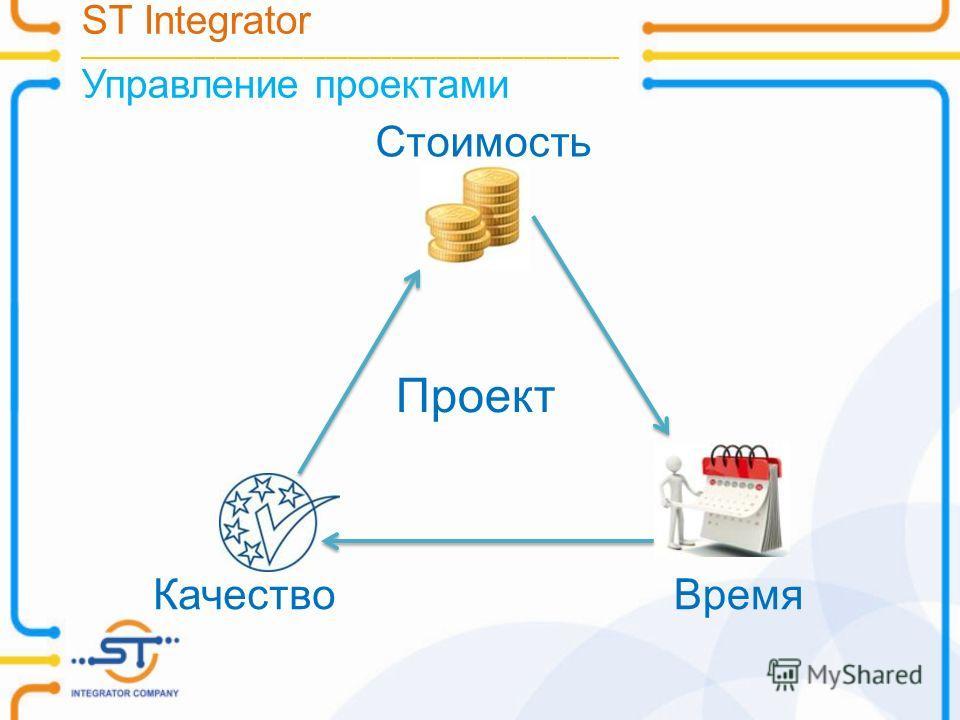 ST Integrator __________________________________________________________________________ Управление проектами Стоимость КачествоВремя Проект